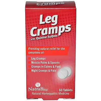 NatraBio, Leg Cramps, with Quinine Sulfate, 60 Tablets Muscle pains & spasms