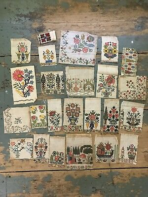 Antique Gold Thread Textile Lot Embroidered Middle Eastern Asian Hand Stitched!