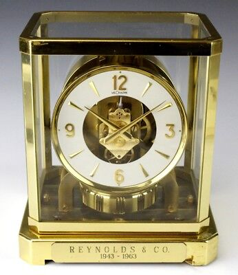 Vintage Jaeger LeCoultre Atmos Clock Model 528-6 Swiss Mantle Brass Case NR EDP