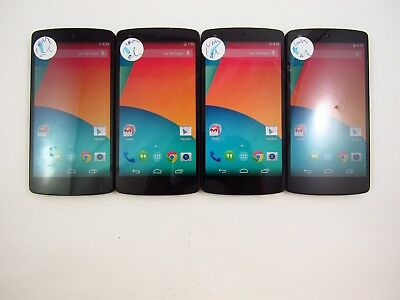 Lot of 4 Cracked LG Nexus 5 D821 Unknown Carrier Check IMEI 5CR 820