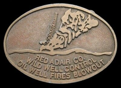 VINTAGE RED ADAIR Co  Wild Well Control Oil Well Fires Blowout Belt