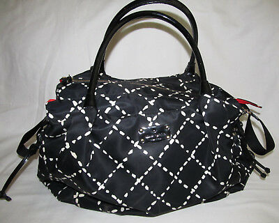 Kate Spade Stevie Black White Red Extra Large Baby Boy Girl Diaper Bag Tote