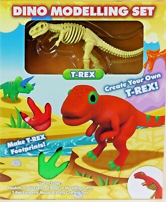 New Dino Modelling Kit Dinosaur Clay Dough Create Your Own  T-Rex