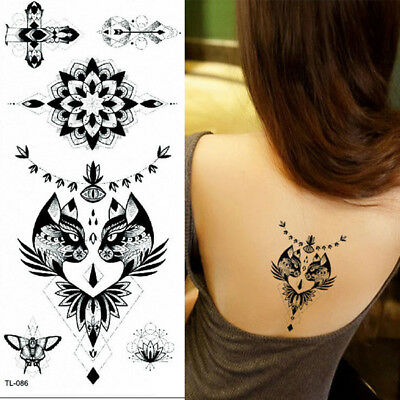 Temporary Tattoo Egyptian Cats Cross Halloween adult for Men and Women