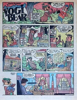Yogi Bear - Hanna-Barbera - President Kennedy - full page Sunday, Sept. 30, 1962