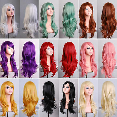 Fashion Women's 70cm Long Wavy Curly Hair Synthetic Cosplay Full Wig Wigs Dlyy!