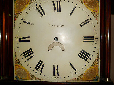 Antique Long Case Clock 14 INCH SQUARE DIAL clean original distressed condition