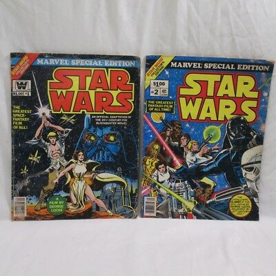 Marvel Special Edition Star Wars #1 & #2 Bronze Age (1977) 1st & 2nd Edition
