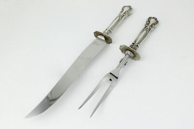 Gorham Sterling Silver 2 Piece Carving Set in the Chantilly Pattern