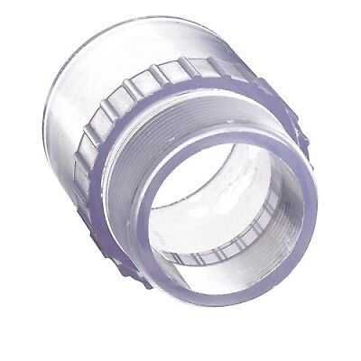 "1-1/2"" Clear Schedule 40 PVC Male Adapter"