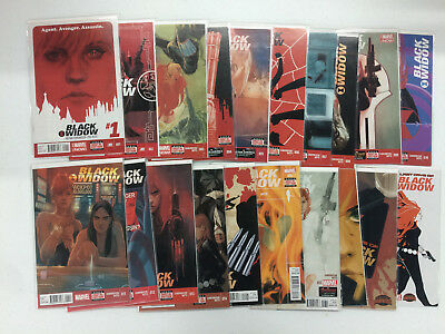 Black Widow #1-20 Complete Full Run Set Nathan Edmondson Phil Noto Marvel 2014