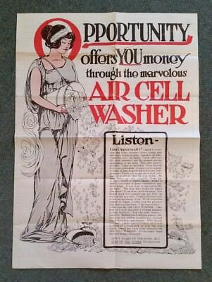 The Air Cell Washer,Air Cell Washer Co.Toledo,O.,Brochure,1900's