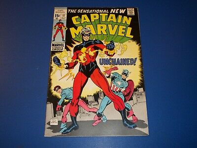 Captain Marvel #17 Great Cover 1st Red Costume Key Captain America Wow FVF