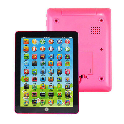 Child Kids Computer Tablet Chinese English Learning Study Machine Music Toy Pink