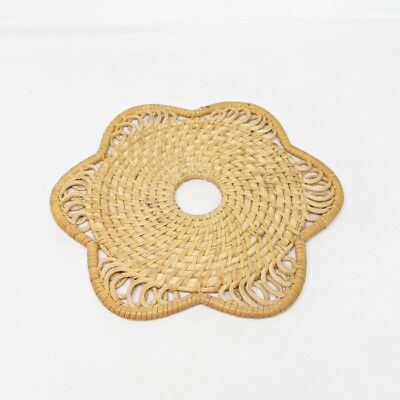 D967: Japanese bamboo weaving mat for teakettle BINSHIKI