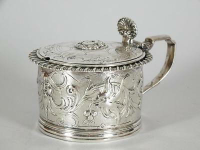 English George III c.1790 Sterling Silver Mustard Pot - w/Mythical Satyr Motif