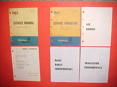 1965 Buick Gs Chevelle Nova Ss El Camino 442 Gto Delco Am Radio Service Manual