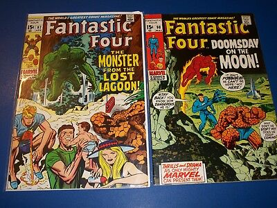 Fantastic Four #97,98 Silver Age lot of 2 Wow