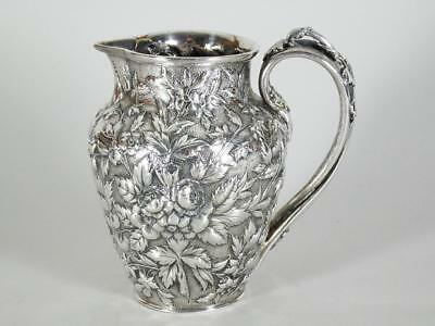 S. Kirk & Son Repousse Coin Sterling Silver Creamer Pitcher / Jug