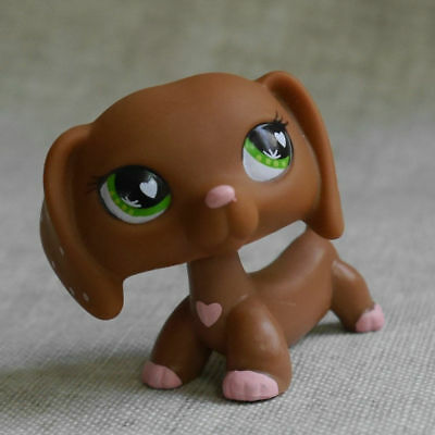 "Lovely LPS COLLECTION 2"" LITTLEST PET SHOP Dachshund dog RARE TOY #556"