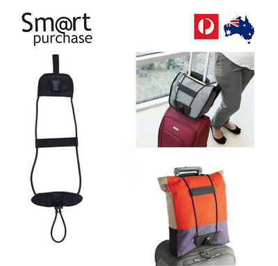 Add A Bag Strap Travel Luggage Carry On Bungee Suitcase Adjustable Belt AUS