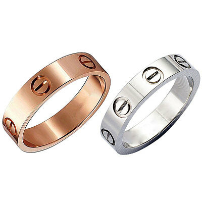 Unisex Men Women's Screw Ring Stainless Steel Love Rings Screwdriver Ring