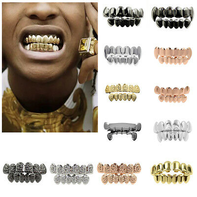 Hip-Hop Rapper Gold Plated Mouth Caps Custom Teeth Grills Bottom Grillz Novelty