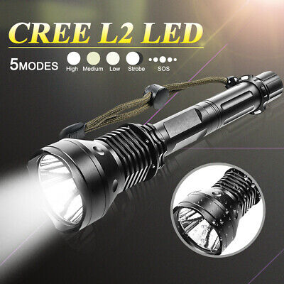 Super Bright Rechargeable CREE L2 LED 18650Battery Flashlight Torch Self-defence