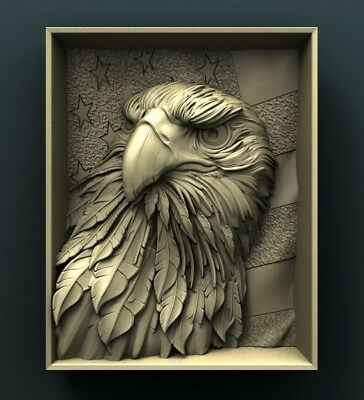 3d STL CNC Model Relief CNC Router Aspire Artcam _ American Eagle