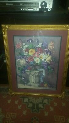 Homco home interior picture flowers BARBRA MOCK Great condition