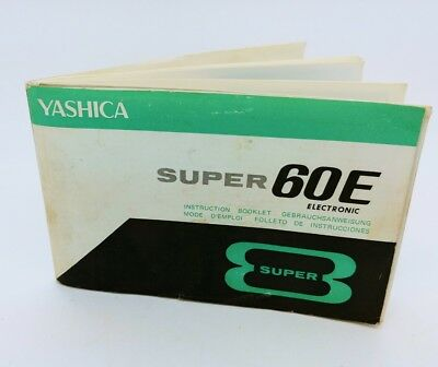 Yashica Super 60E 8mm super electronic Camera ORIGINAL instruction manual