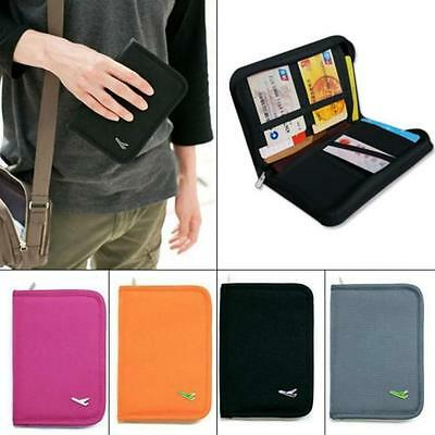 Travel Passport Card Holder Zipper Case Cover Wallet Purse Organizer DP