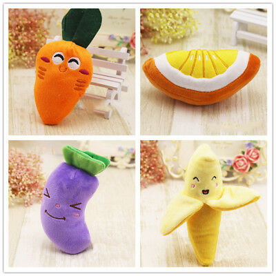 Squeaky Dog Toy for Small Dogs Fruits & Vegetables Non-Toxic Odorless Puppy Toys