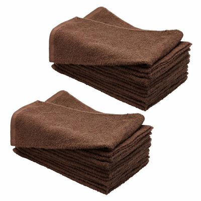 SydneySalonSupplies Chocolate BROWN Hand Towels. Salon/Barber/Spa/Gym 100%Cotton