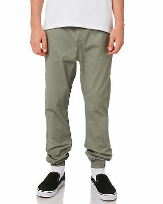 New Swell Boys Kids Boys Cartel Pant Cotton Elastane Green