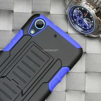 For HTC Desire 626/626S GT Armor Hybrid Belt Clip Holster Stand Case Cover