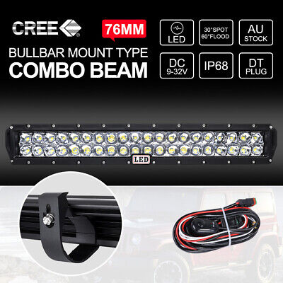 23 inch CREE LED Light Bar COMBO Beam With 49mm Bullbar Bracket For ARB Bull Bar