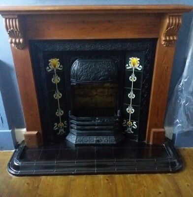 Antique Style Victorian Fireplace Insert