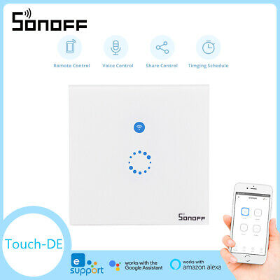 Sonoff T1 1 2 Gang Smart WiFi EU Panel Touch Switch Wall Retome Control Light