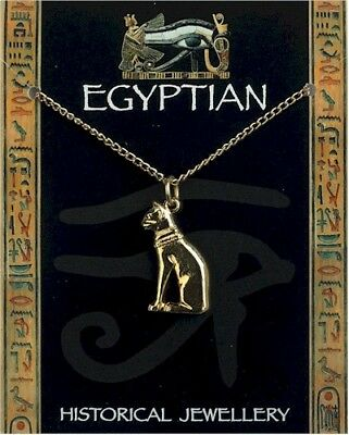 Egyptian Cat Gold Plated Pendant On Chain