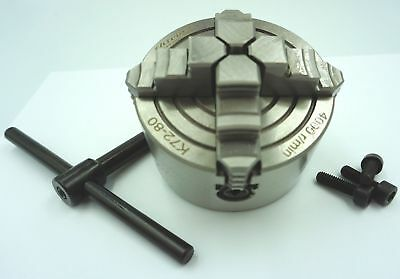 80mm 4 Jaw Independent Lathe Chuck  (Ref: CH480) From Chronos