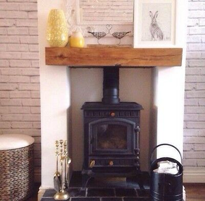 OAK BEAM - Lintel Mantel Fireplace Log Burner Mantelpiece Lintel Planed Sanded