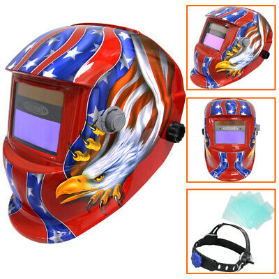 Auto Darkening Welding Helmet Mask Welder Grinding Solar Power Shine Carbon WH27