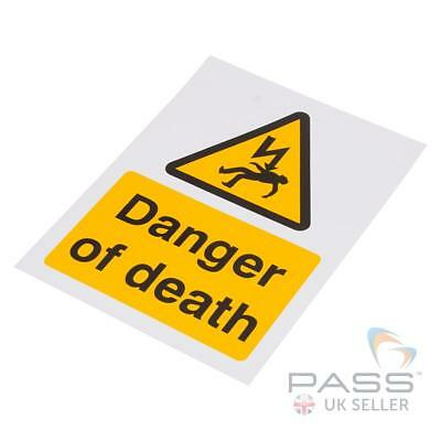 *SALE* LOTO 'Danger of Death' Electricity Warning Sign