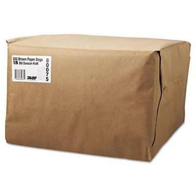 General Supply 80075 1/6 Bbl Paper Grocery Bag, 52lb Kraft, Standard 12 X 7 X