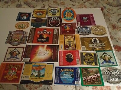 Lot Of (50) Diff Usa Micro Beer Labels  -Mint