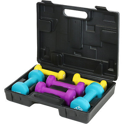 DTX Fitness Dumbbell Hand Weights Set & Case Home Gym/Exercise/Toning/Aerobics