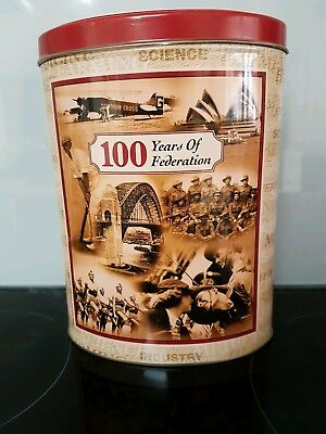 100 YEARS OF FEDERATION BISCUIT TINCollectible display