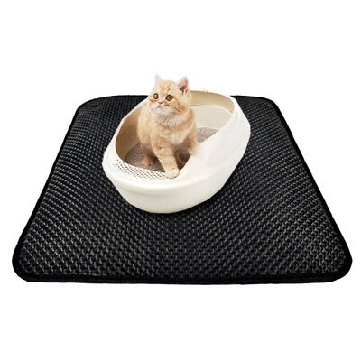 Pet Cat Litter Trapping Mat Double Layer Honeycomb Design Foldable Pad Blanket