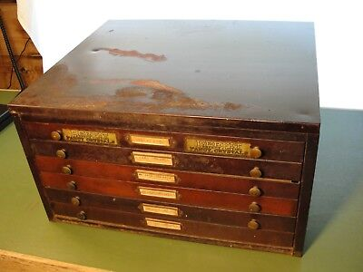 Antique American Perfit Crystal Corp Perfect Watchmakers Cabinet 200+ Crystals
